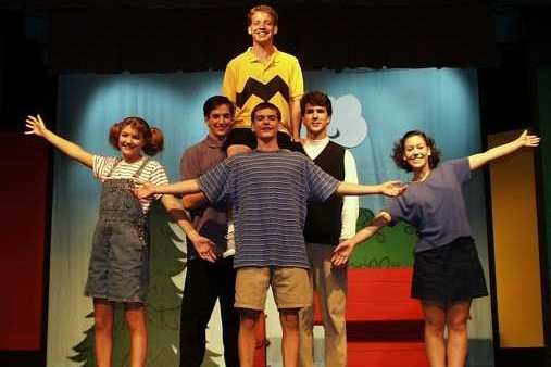 cast of You're a Good Man Charlie Brown in Stowe
